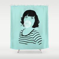 bubblegum Shower Curtains featuring Bubblegum by FalcaoLucas