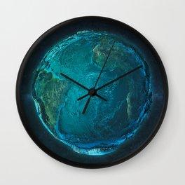 Globe: Relief Atlantic Wall Clock