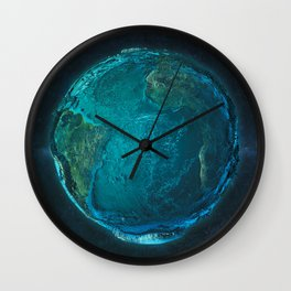 Globe: Relief Atlantic Wall Clock