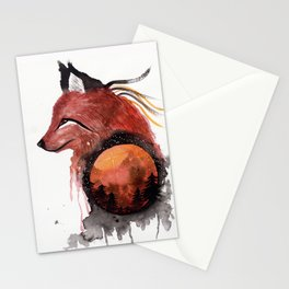 Tetrad the Bloodmoon Fox Stationery Cards