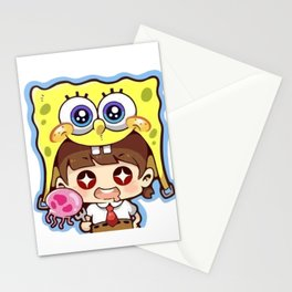 Chibi Spongebob Cosplay Stationery Cards