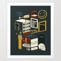 221b Art Prints featuring 221B by Nina Martinez