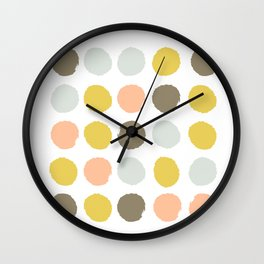 Gender neutral painted dots trendy color palette nursery gifts hipster decor Wall Clock