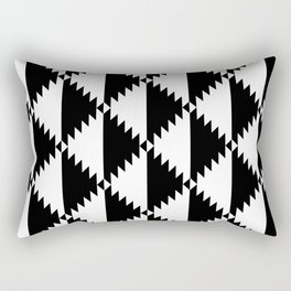 Aztec 3 B&W Rectangular Pillow