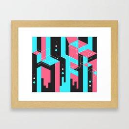 Flat Geometry Framed Art Print