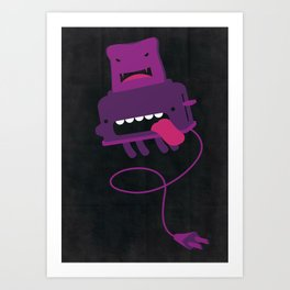 Toast made me do it Art Print
