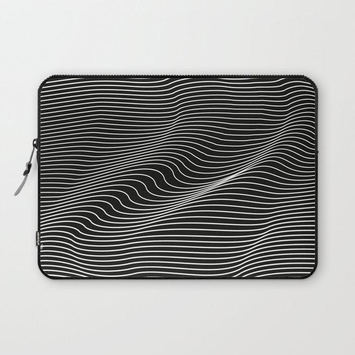Minimal curves black Laptop Sleeve