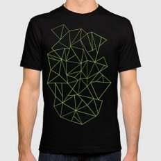 Ab Outline Greeny Mens Fitted Tee MEDIUM Black