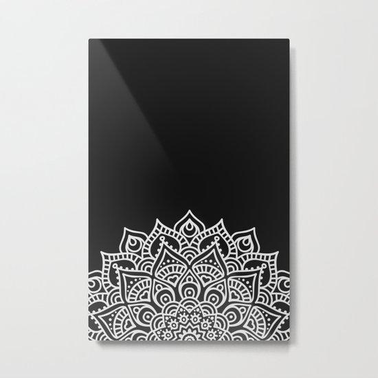 BLACK N' WHITE MANDALA Metal Print