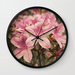 Flowers in the japonese garden of Monaco Wall Clock