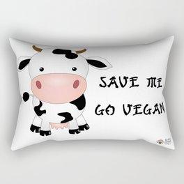 Vegan Cow Rectangular Pillow