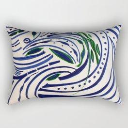 Water Flowing Plant Rectangular Pillow