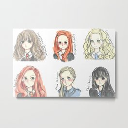 HP Inspired Characted Sketches Metal Print