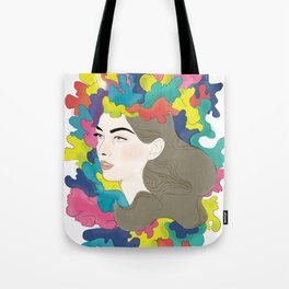 Exploded Head Tote Bag