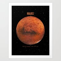 bruno mars Art Prints featuring Mars by Terry Fan