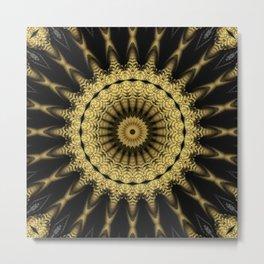 Golden extravaganza mandala Metal Print