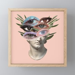 female gaze Framed Mini Art Print