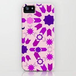 Purple Arabesque iPhone Case