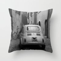 italy Throw Pillows featuring Italy by Angelika Stern