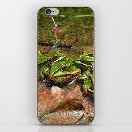 Dream Creatures, Frog, DeepDream iPhone Skin