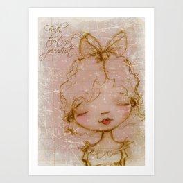 Faith, Trust, and Pixiedust - Glorified Sketch Art Print