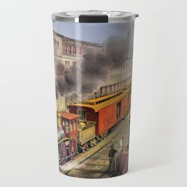 American Railroad Scene (Currier & Ives) Travel Mug