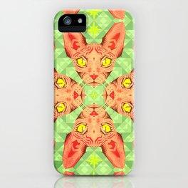 Sphynx Cat Pattern iPhone Case