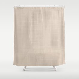 A Touch Of Beige - Soft Geometric Minimalist Shower Curtain