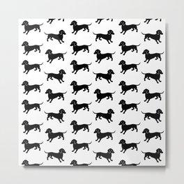 Dachshund Pattern Metal Print