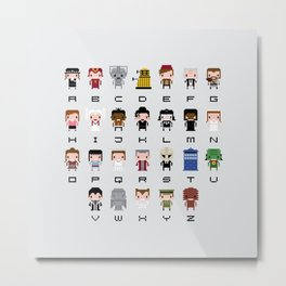 Doctor Who Alphabet Metal Print