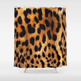 Vegan Leopard Skin Animal Fur Design Shower Curtain