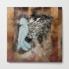 Exploding Pressure of the Heart Metal Print