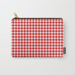 Friendly Houndstooth Pattern,red Carry-All Pouch