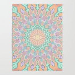 Crystal Magic - Mandala Art Poster