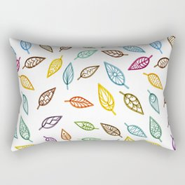 Tribal Leafs  - Unique Decorative Leaves Background Rectangular Pillow