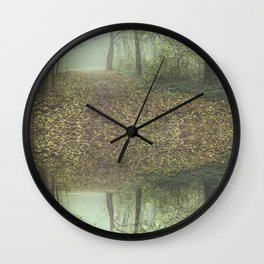 Walk in the Surreal Misty Forest Wall Clock