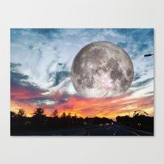 Supermoon Sunset Florida Canvas Print