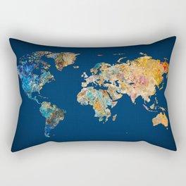 World Map 11 Rectangular Pillow