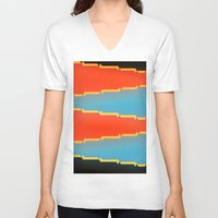 tribal V-neck T-shirts featuring TRIBAL by TKlol