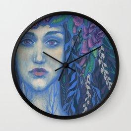 Foxgloves Wall Clock