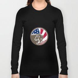 Republican Elephant Mascot USA Flag Long Sleeve T-shirt