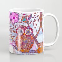 discount Mugs featuring If Klimt Painted An Owl :) Owls are darling birds! by Love2Snap