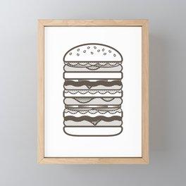 Burgers Wall Framed Mini Art Print