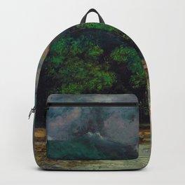 """Gustave Courbet """"Lac Léman avant la tempête (Lake Geneva before the storm)"""" Backpack"""