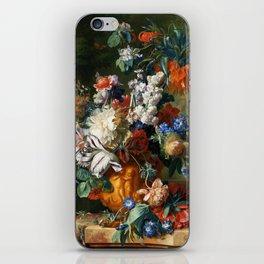 "Jan van Huysum ""Bouquet of Flowers in an Urn"" iPhone Skin"