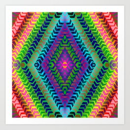 Psychedelic Chevron Art Print