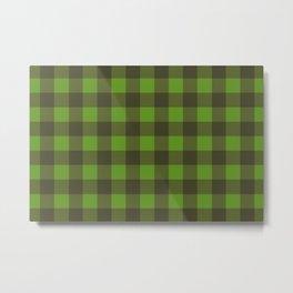 Green Lumberjack Metal Print