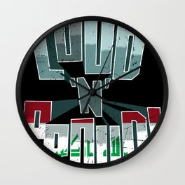 Iraq Pride Loud N Proud Wall Clock
