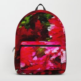 Red Gerbera Daisy Abstract Backpack