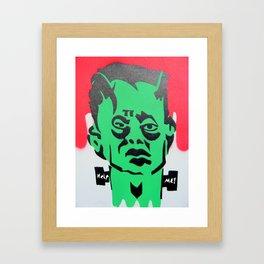 Help me franky! Framed Art Print